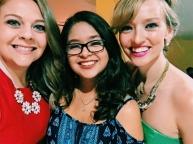 Ali, Meli & I at the Christmas Eve church service